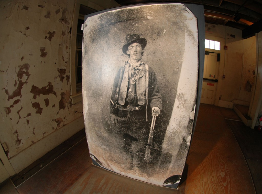 Billy the Kid photo at Old Lincoln County Courthouse Museum, Lincoln, NM.
